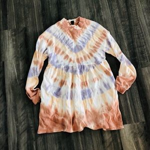 Wild fable Tie Dye Sweatshirt Dress XS NWT LS